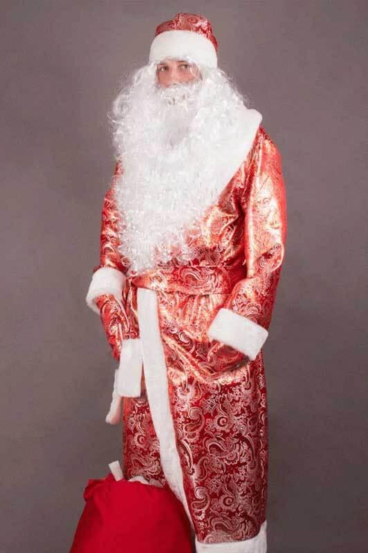 Уникальный рисунок на шубе Деда Мороза.