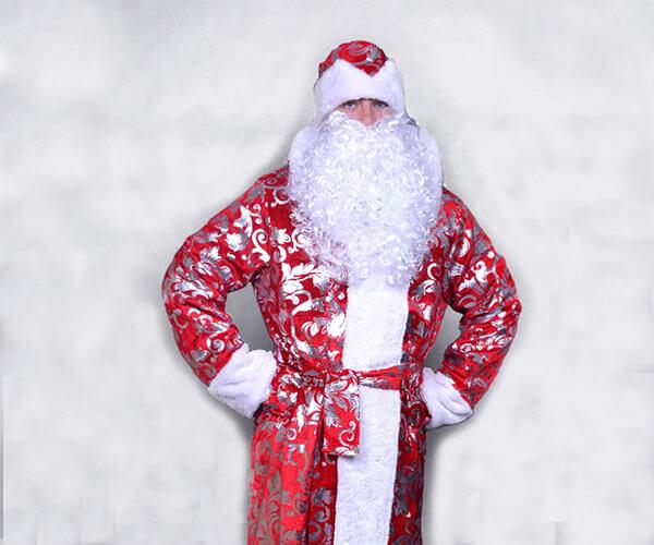 Блестящий костюм Деда Мороза.