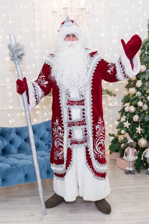 Костюм Деда Мороза Купеческий Бордо 1