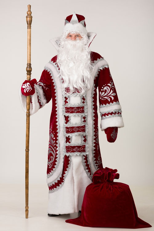 Костюм Деда Мороза Купеческий Бордо 4