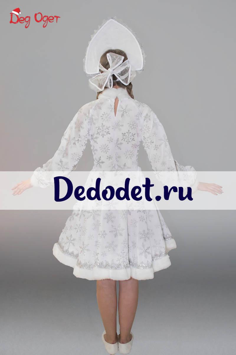 Костюм Снегурочки с кокошником 2